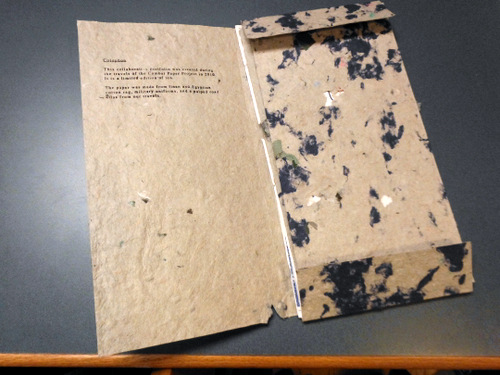 """Linen Series"" by Combat Paper Press"