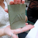 Leather journal completed at Book Arts Guild of Vermont meeting