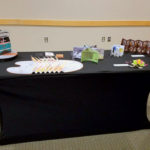 Book Arts Guild of Vermont display Friday night at the Burlington Book Festival