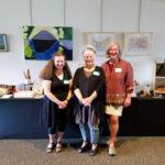 Jill Abilock, Nina Gaby, and Dorsey Hogg at the Book Arts Guild of Vermont display at the Burlington Book Festival