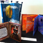 Work by Nancy Stone on display at the Burlington Book Festival