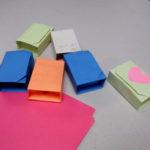 Folded origami boxes