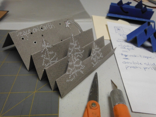 Folded holiday card