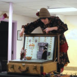 Sarah Frechette performing puppet show about Snowflake Bentley