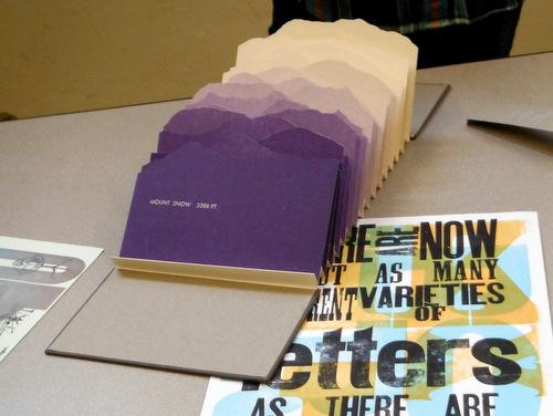 Student work at Dartmouth College Book Arts Program
