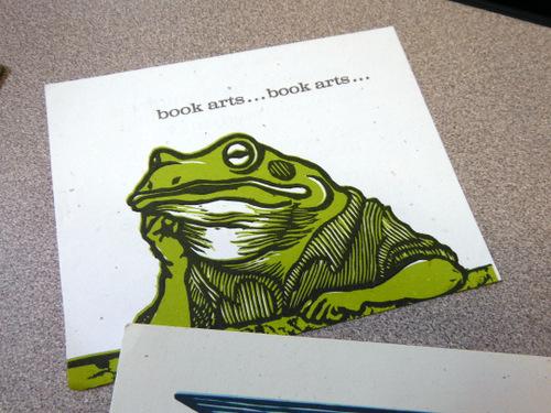 Letterpress card at Dartmouth College Book Arts Program