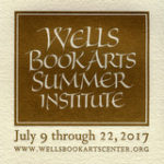 Wells College Book Arts 2017 logo