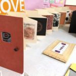 Handmade books at Book Arts Guild of Vermont meeting