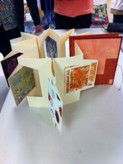 Handmade book at Book Arts Guild of Vermont meeting