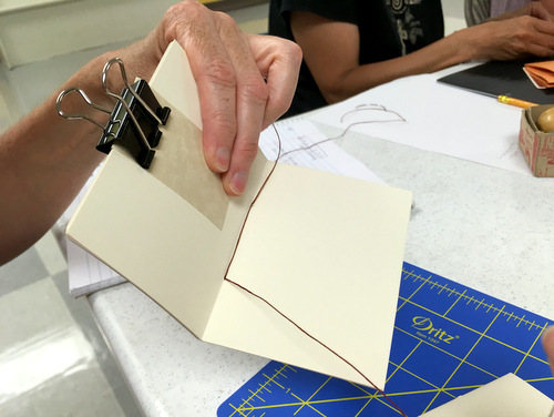Sewing coptic journal