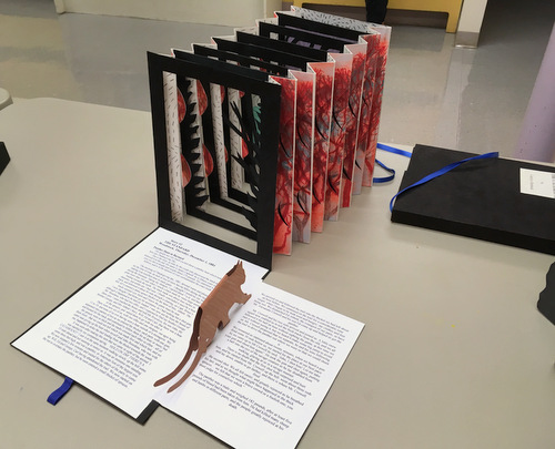 The Catamount Book - Artist's book by Carolyn Shattuck