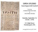 Susan Kapuscinski Gaylord Open Studio poster