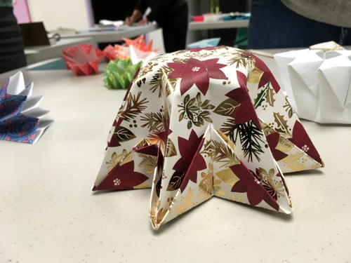 Folded paper lantern