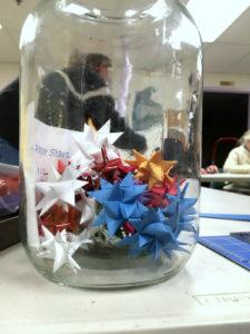 Jar of Froebel stars