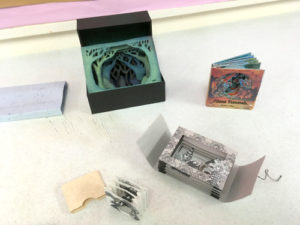 Tunnel books by Book Arts Guild of Vermont members