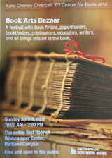 Book Arts Bazzar poster