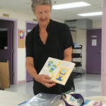 Marcia Vogler sharing her artist's book