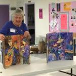 Nancy Stone sharing her artist's books