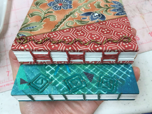 Handbound journals by Jill Abilock
