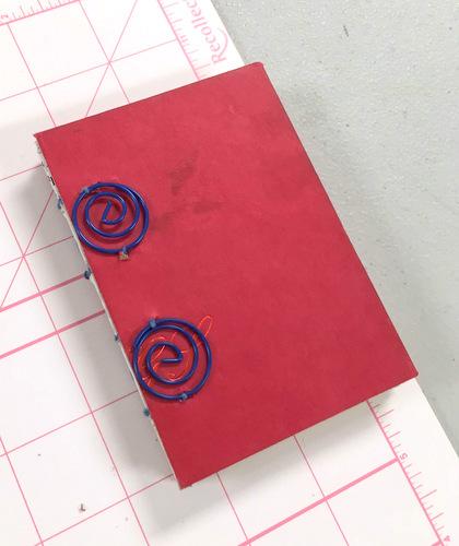 Handbound coptic journal