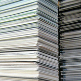 Stack of matboard