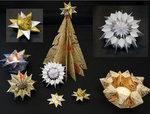 Handmade paper ornaments by Rebecca Boardman
