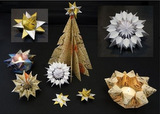 Handmade paper ornaments by Rebecca Boardman