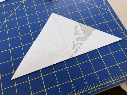 Cut paper snowflake pattern
