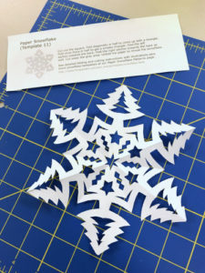 Cut paper snowflake