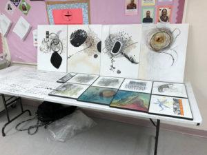 Mark making samples by Marilyn Gillis