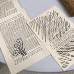 Stitching on paper