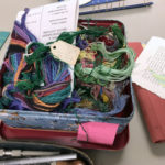 Container of thread and yarn