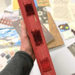 Handmade book with spine weaving