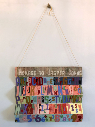 """Homage to Jasper Johns"" by Vera Ryersback"