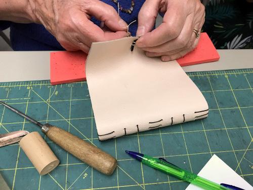 Handbinding leather journal