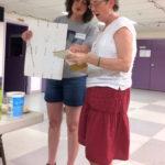 Bookbinder Elissa Campbell demonstrating