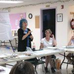 Meta Strick at Book Arts Guild of Vermont meeting