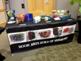 Book Arts Guild of Vermont display at the Burlington Book Festival