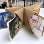 Handmade book of postcards