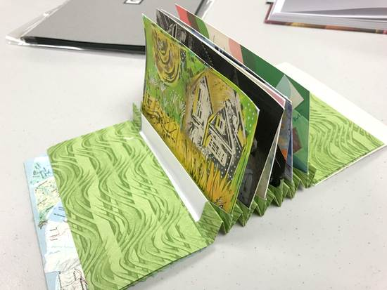 Handmade book of postcards