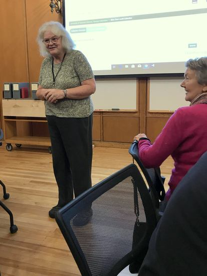 Librarian Prudence Doherty at UVM Special Collections