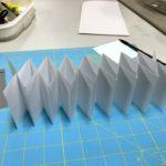 Folded accordion book