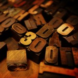 letterpress wood type