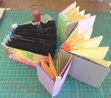 accordion book with sew-ins