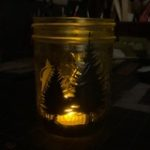 Trees jar luminary