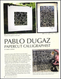 Page image from article on Pablo Dugaz in Bound & Lettered