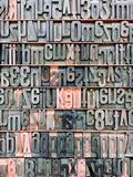 Wood letterpress type